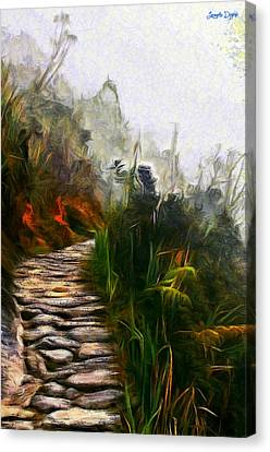 Ancient Way - Da Canvas Print by Leonardo Digenio