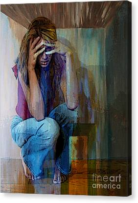 And Alice Wonders How Ever Did She Get Here Canvas Print by Tammera Malicki-Wong
