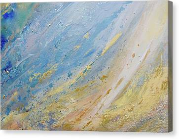 Silver Turquoise Canvas Print - And God Made The Firmament by Laurie Hein