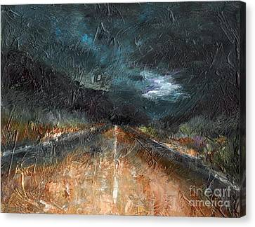 Abstact Landscapes Canvas Print - And Life Goes On by Frances Marino