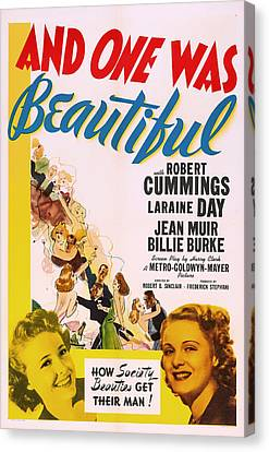 And One Was Beautiful 1939 Canvas Print