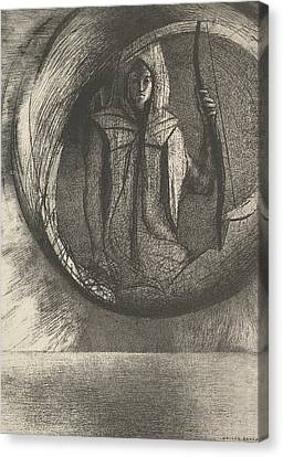 And Over There, The Astral Idol, The Apotheosis Canvas Print by Odilon Redon