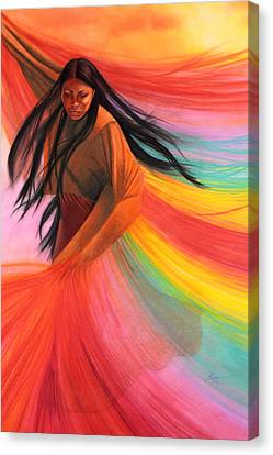 And So We Dance Canvas Print by Maria Hathaway Spencer