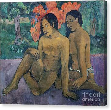 And The Gold Of Their Bodies Canvas Print by Paul Gauguin