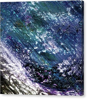 ...and The Heavens Cried Canvas Print by Another Dimension Art