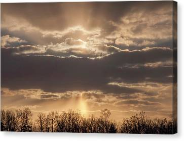 And The Heavens Open Up Canvas Print by Bill Cannon
