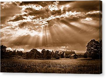 And The Heavens Opened 3 Canvas Print
