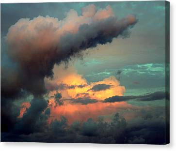 And The Thunder Rolls Canvas Print by Karen Wiles