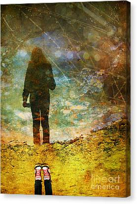 And Then He Turned Her World Upside Down Canvas Print by Tara Turner