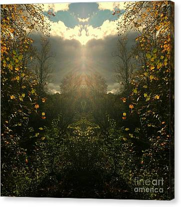 And Then The Heavens Opened Canvas Print