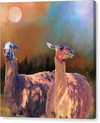 And They Danced By The Light Of The Moon Canvas Print by Theresa Campbell