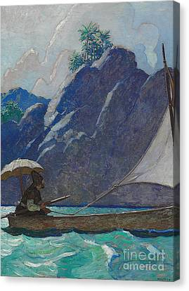 And Thus I Every Now And Then Took A Little Voyage Upon The Sea Canvas Print by Newell Convers Wyeth
