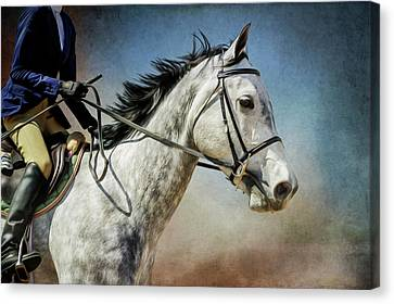 Canvas Print featuring the photograph Andalucian Blue by Debby Herold