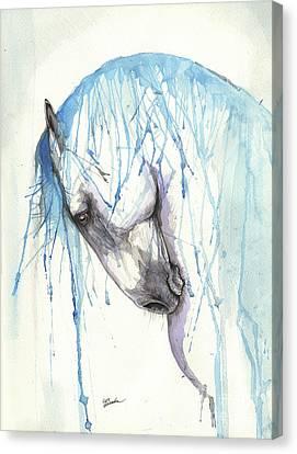 Andalusian Horse 2017 01 30 Canvas Print by Angel Tarantella