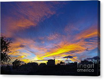Andalusian Sunset Canvas Print by Perry Van Munster