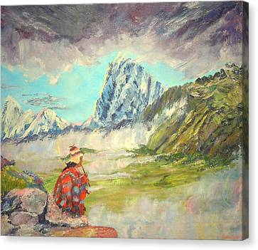 Andean Flautist Canvas Print by Anastasia Savage Ealy
