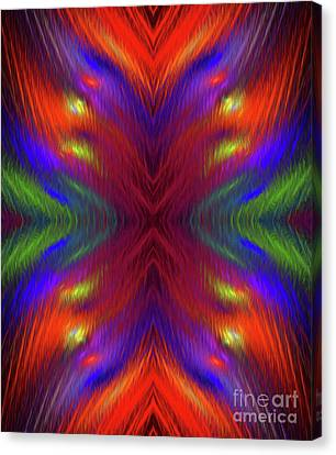 Canvas Print featuring the digital art Andee Design Abstract 1 2015 by Andee Design