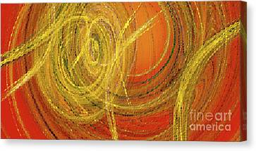 Canvas Print featuring the digital art Andee Design Abstract 10 2017 by Andee Design