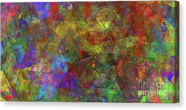 Canvas Print featuring the digital art Andee Design Abstract 12 2017 by Andee Design