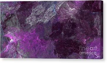 Canvas Print featuring the digital art Andee Design Abstract 13 2017 by Andee Design