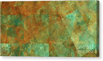 Canvas Print featuring the digital art Andee Design Abstract 16 2017 by Andee Design