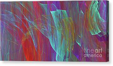 Canvas Print featuring the digital art Andee Design Abstract 18 2017 by Andee Design