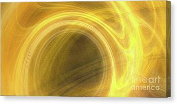 Canvas Print featuring the digital art Andee Design Abstract 21 2017 by Andee Design