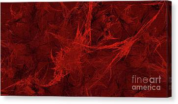 Canvas Print featuring the digital art Andee Design Abstract 26 2017 by Andee Design