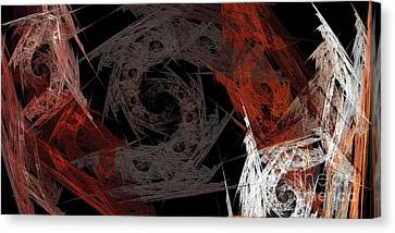 Canvas Print featuring the digital art Andee Design Abstract 29 2017 by Andee Design