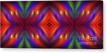 Canvas Print featuring the digital art Andee Design Abstract 3 2015 by Andee Design