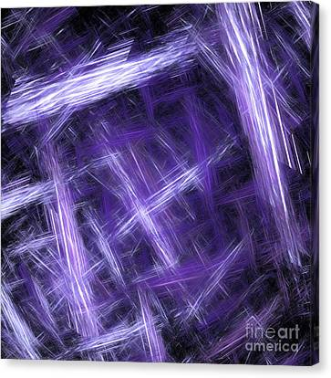 Canvas Print featuring the digital art Andee Design Abstract 30 2017 by Andee Design