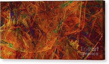 Canvas Print featuring the digital art Andee Design Abstract 31 2017 by Andee Design