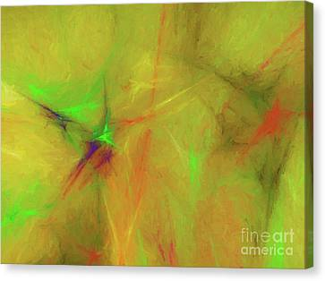 Canvas Print featuring the digital art Andee Design Abstract 32 2017 by Andee Design