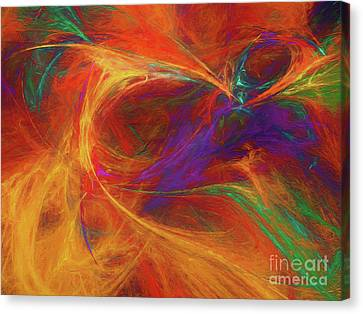 Canvas Print featuring the digital art Andee Design Abstract 33 2017 by Andee Design
