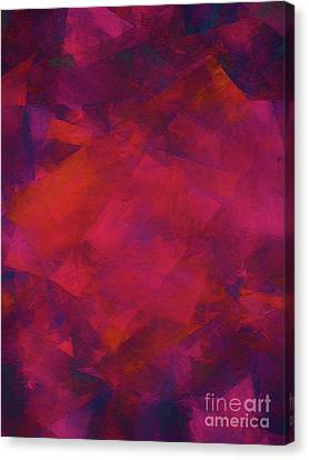 Canvas Print featuring the digital art Andee Design Abstract 39 2017 by Andee Design
