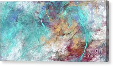 Canvas Print featuring the digital art Andee Design Abstract 4 2015 by Andee Design