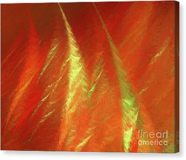 Canvas Print featuring the digital art Andee Design Abstract 42 2017 by Andee Design