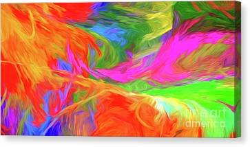 Canvas Print featuring the digital art Andee Design Abstract 5 2015 by Andee Design