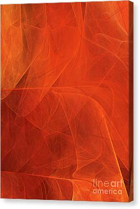Canvas Print featuring the digital art Andee Design Abstract 54 2017 by Andee Design