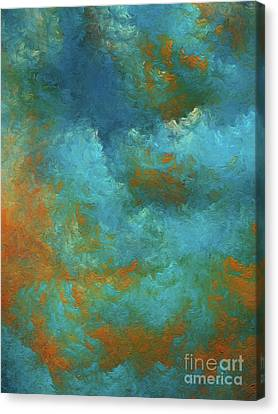 Canvas Print featuring the digital art Andee Design Abstract 55 2017 by Andee Design