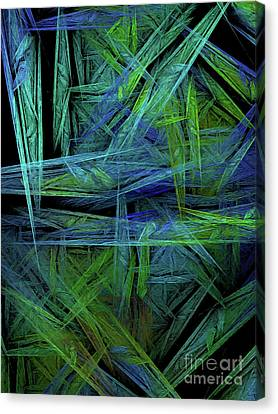 Canvas Print featuring the digital art Andee Design Abstract 61 2017 by Andee Design