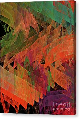 Canvas Print featuring the digital art Andee Design Abstract 62 2017 by Andee Design