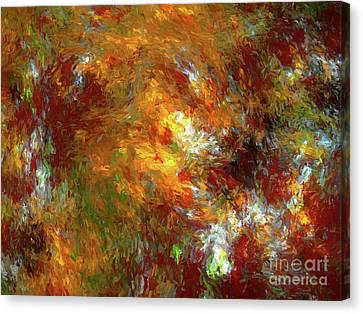 Canvas Print featuring the digital art Andee Design Abstract 69 2017 by Andee Design