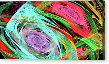 Canvas Print featuring the digital art Andee Design Abstract 7 2015 by Andee Design