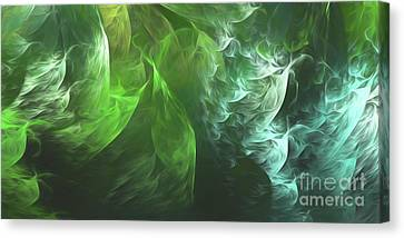 Canvas Print featuring the digital art Andee Design Abstract 72 2017 by Andee Design