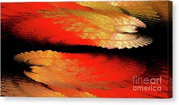 Canvas Print featuring the digital art Andee Design Abstract 77 2017 by Andee Design