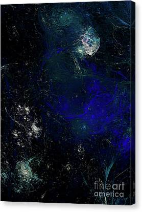 Canvas Print featuring the digital art Andee Design Abstract 81 2017 by Andee Design