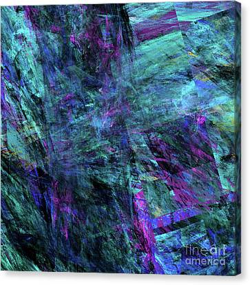 Canvas Print featuring the digital art Andee Design Abstract 9 2017 by Andee Design