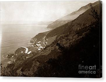 Anderson Creek Labor Camp Big Sur April 3 1931 Canvas Print by California Views Mr Pat Hathaway Archives