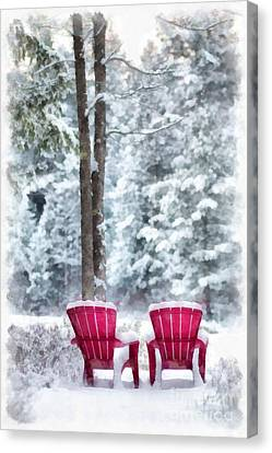 Winter Storm Canvas Print - Anderson Pond Eastman Grantham Winter by Edward Fielding